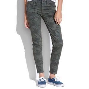 Madewell Camo Skinny Skinny Ankle Jeans